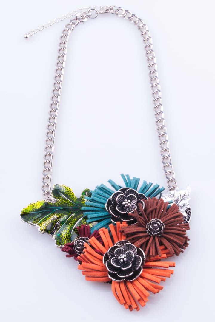 Colar de Mulher Flores de Outono Colorido