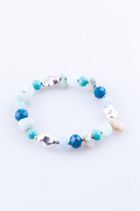 Pulseira de Mulher Mix Texturas Azul