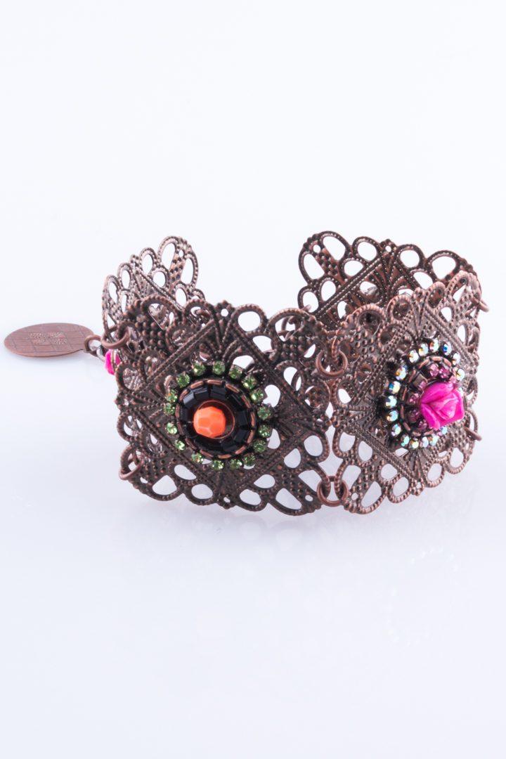 Pulseira de Mulher Metal Bracelet Colorido